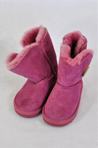 Ugg Pink Boots Girls Children Size 8