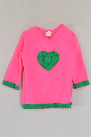 Cotton On Bright Pink And Green Swimwear Girls 6-12 months