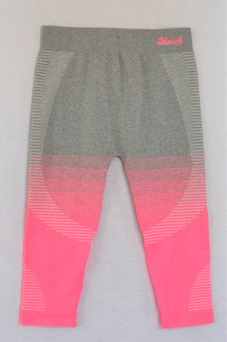 Maxed Grey & Pink Ombre Sports Leggings Girls 12-13 years