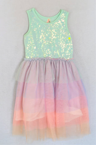 Cotton On Pastel Multicolour Dress Girls 3-4 years