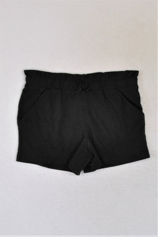 George Black Heathered Frill Banded Lightweight Shorts Girls 6-7 years