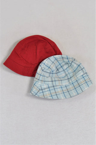 Unbranded Blue Reversible Bucket Hat Boys 3-6 months