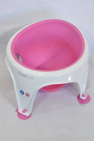 Angelcare Pink & White Seat Bath Support Girls 6-12 months