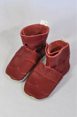 Pitta-Patta Leather Red Soft Soled Booties Girls Toddler Size 6
