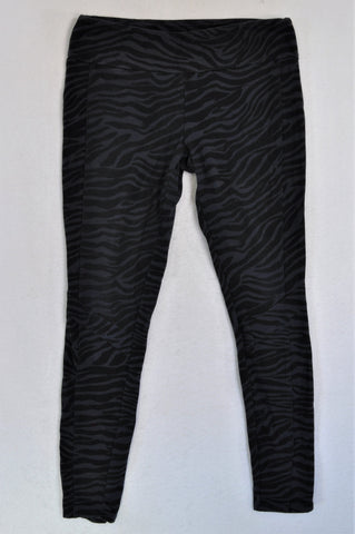 Cotton On Navy Zebra Print Sports Leggings Women Size 12