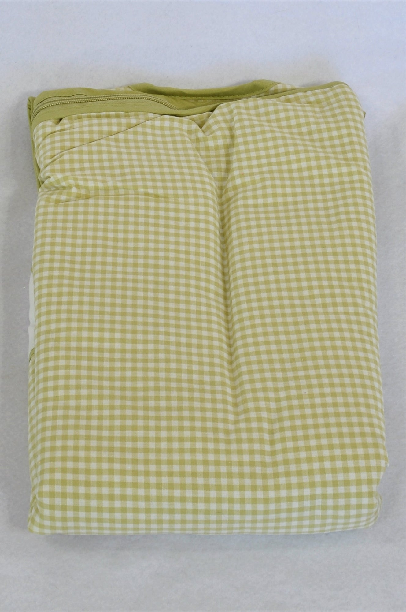 New Ikea Fabler 2.5 Tog Green Gingham Sleep Sack Unisex 0-6 months