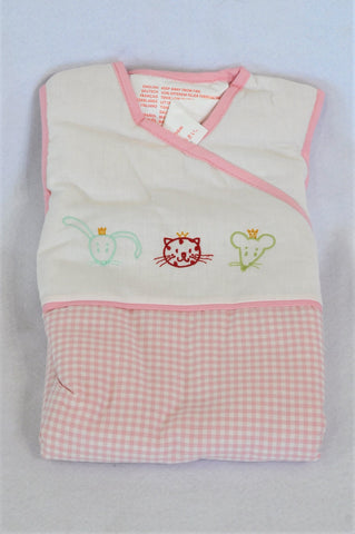 New Ikea Fabler 2.5 Tog Pink Gingham Sleep Sack Girls 0-6 months