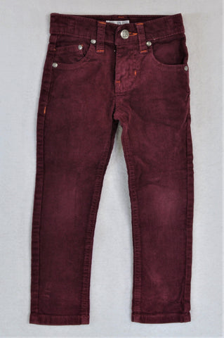Exact Purple Corduroy Pants Unisex 3-4 years