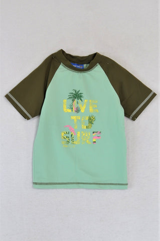 Naartjie Green Live To Surf Rash Vest Boys 2-3 years