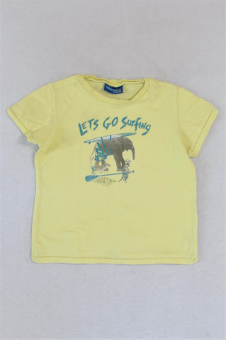 Naartjie Yellow Lets Go Surfing T-shirt Boys 2-3 years