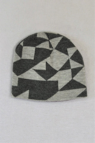 Woolworths Grey Patterned Beanie Unisex 4-5 years