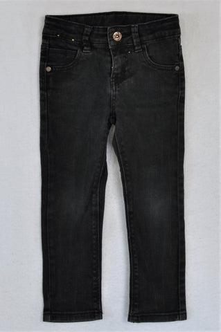 Woolworths Black Stretch Jeans Girls 3-4 years