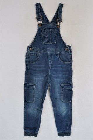 Next Denim Stretch Dungarees Boys 5-6 years