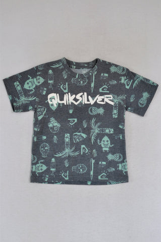 Quiksilver Grey & Green T-shirt Boys 5-6 years