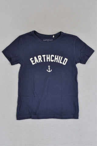 Earthchild Purple Anchor T-shirt Unisex 5-6 years
