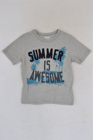 OshKosh Grey Summer Is Awesome T-shirt Boys 4-5 years