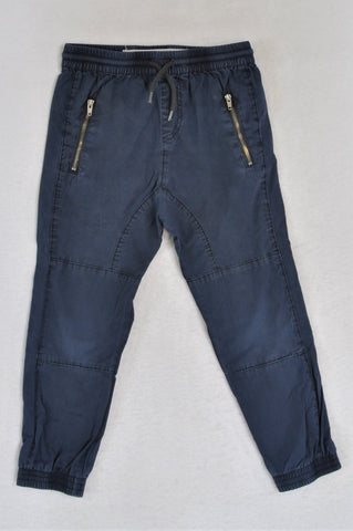 Cotton On Navy Lightweight Zip Pockets Pants Boys 4-5 years