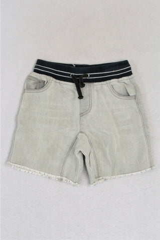 Woolworths Faded Denim Banded Shorts Boys 6-12 months