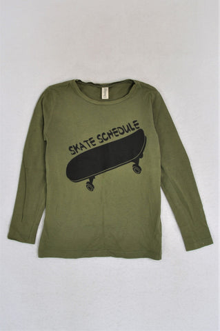 Instinct Olive Skate Schedule Long Sleeve T-shirt Boys 5-6 years