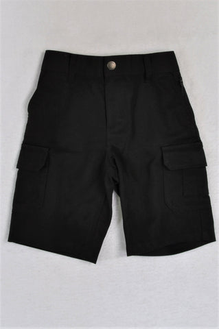 Next Black Stretch Waist With Pockets Shorts Boys 5-6 years