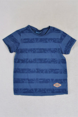 Naartjie Blue Striped Palm Tree T-shirt Boys 2-3 years