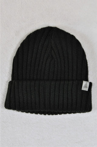 Next Black Knit Beanie Boys 5-6 years