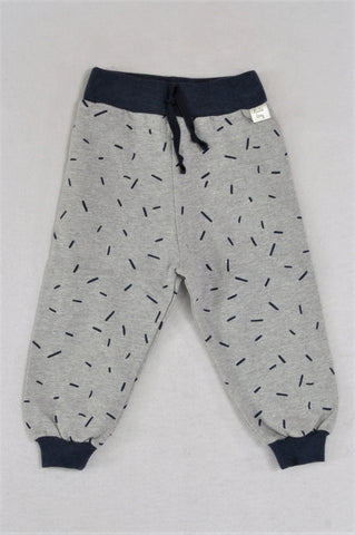 New Kutie Boy Sprinkles Brushed Cotton Fleece Thick Knit Banded Track Pants Boys 6-12 months