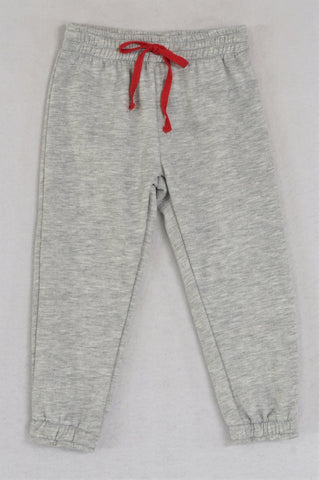 New Kutie Boy Plain Melange Red Tie Track Pants Boys 2-3 years
