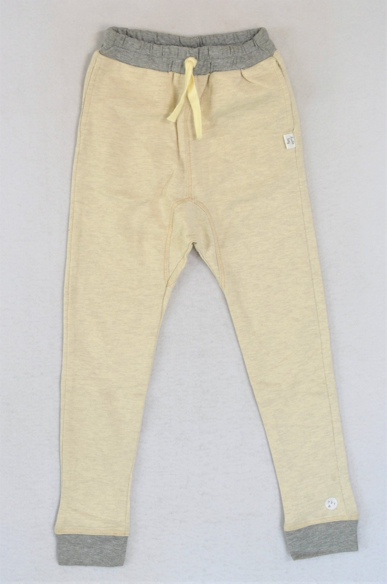 New Kutie Boy 100% Cotton Cream Jogger Track Pants Boys 7-8 years