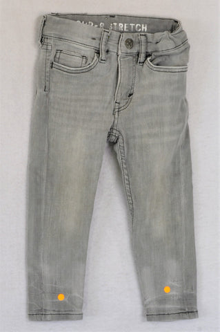 H&M Light Grey Stretch Jeans Unisex 18-24 months