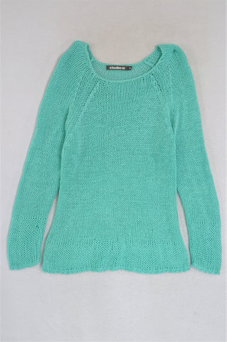 Studio.W Turquoise Long Sleeve Knitted Jersey Women Size M