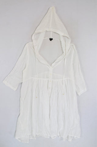 Faith White Hooded Shirt Style Dress Women Size XXL