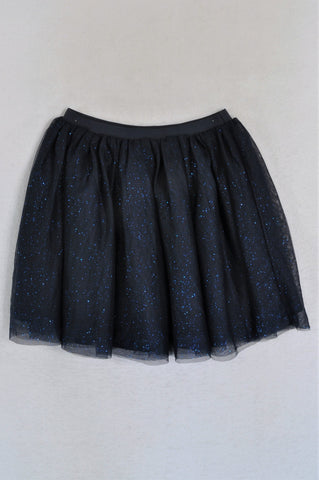 H&M Navy Sparkle Tulle Skirt Girls 8-10 years