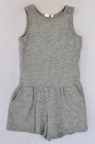 GAP Grey Tank Sleeve With Pockets Jumpsuit Girls 9-10 years