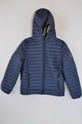 New Wave Navy Hooded Puffer Jacket Boys 12-13 years