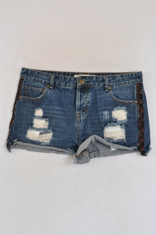 1996 Denim Co. Denim Ripped Cheeky Shorts Women Size 10