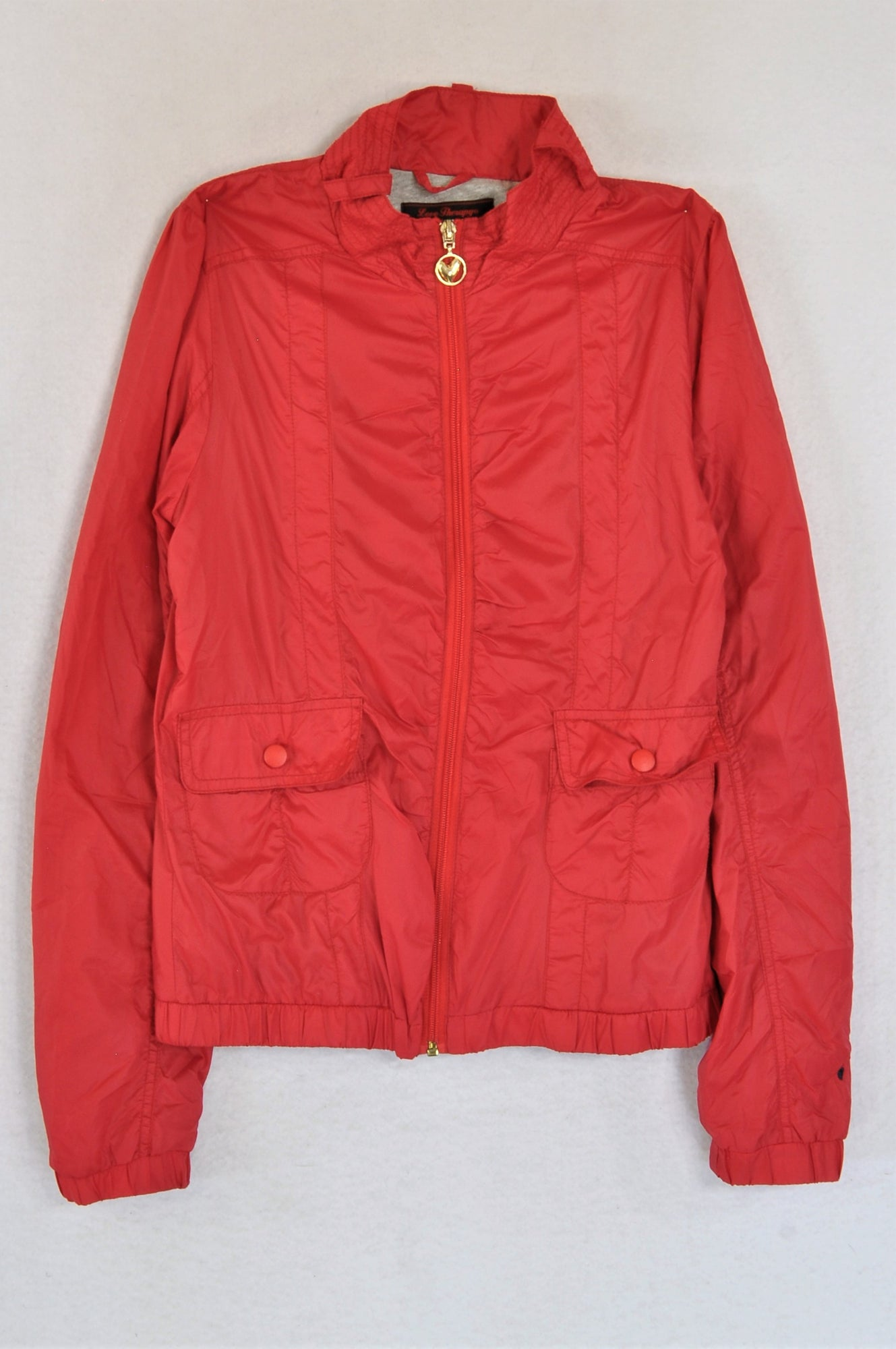 Love Therapy Red Collared Lightweight Jacket Women Size S