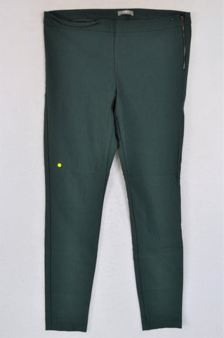 Woolworths Forest Green Side Zip Chinos Women Size 16