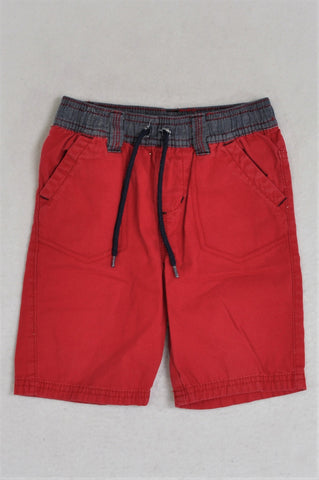 KDS Red Drawstring Shorts Boys 2-3 years