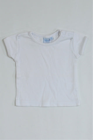 Disney White Shoulder Snap T-shirt Girls 0-3 months