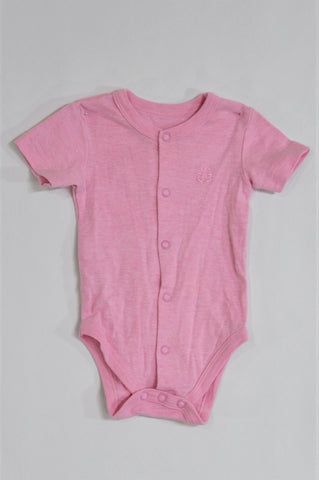Woolworths Pink Button Up Baby Grow Girls 0-3 months