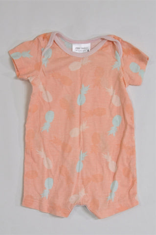 Pick 'n Pay Orange Pineapple Romper Girls 0-3 months
