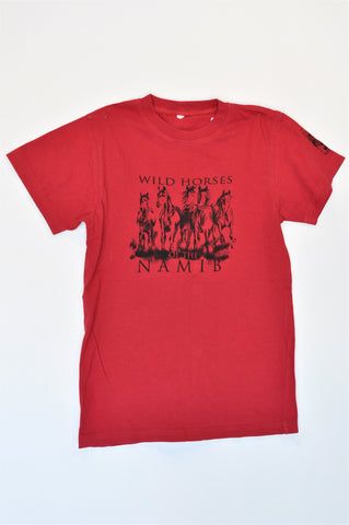 Red Wild Horses Of The Namib T-shirt Unisex 9-10 years