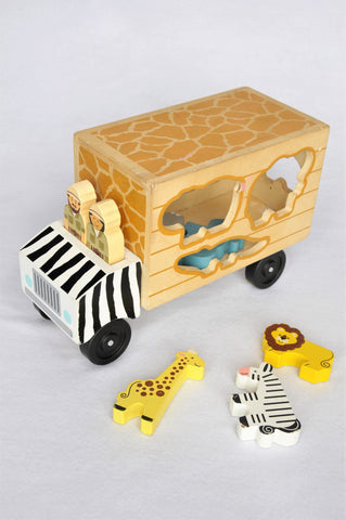 Melissa & Doug Safari Animal Rescue Truck Block Toy Unisex 2-6 years