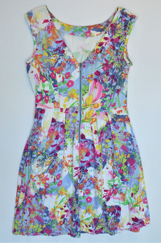 Max Multicoloured Floral Sleeveless Dress Women Size 10