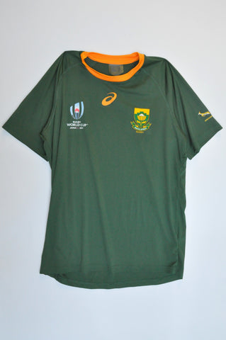 Asics SA Rugby Springbok 2019 World Cup Jersey Sports Top Women Size M