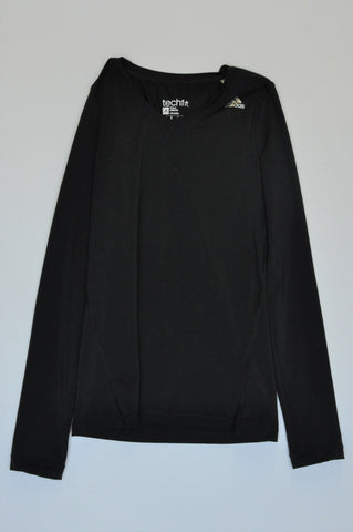 Adidas Black Long Sleeve Sports Top Women Size XS