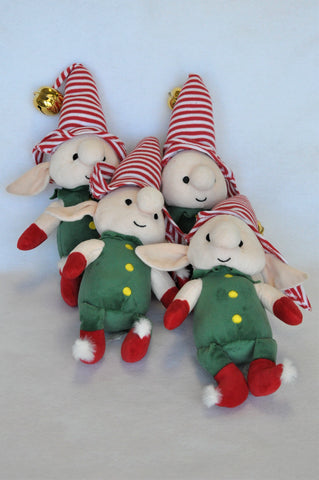 Woolworths Green & Red Christmas Elves Decor Unisex 3+ years