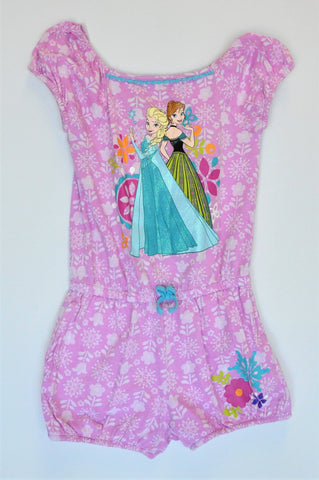 Disney Pink Floral Frozen Princesses Romper Girls 5-6 years