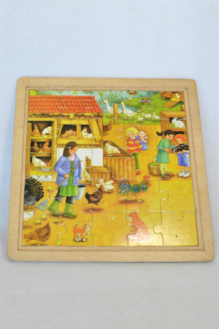 Unbranded Double Layer Wooden Farm Puzzle Unisex 4-10 years